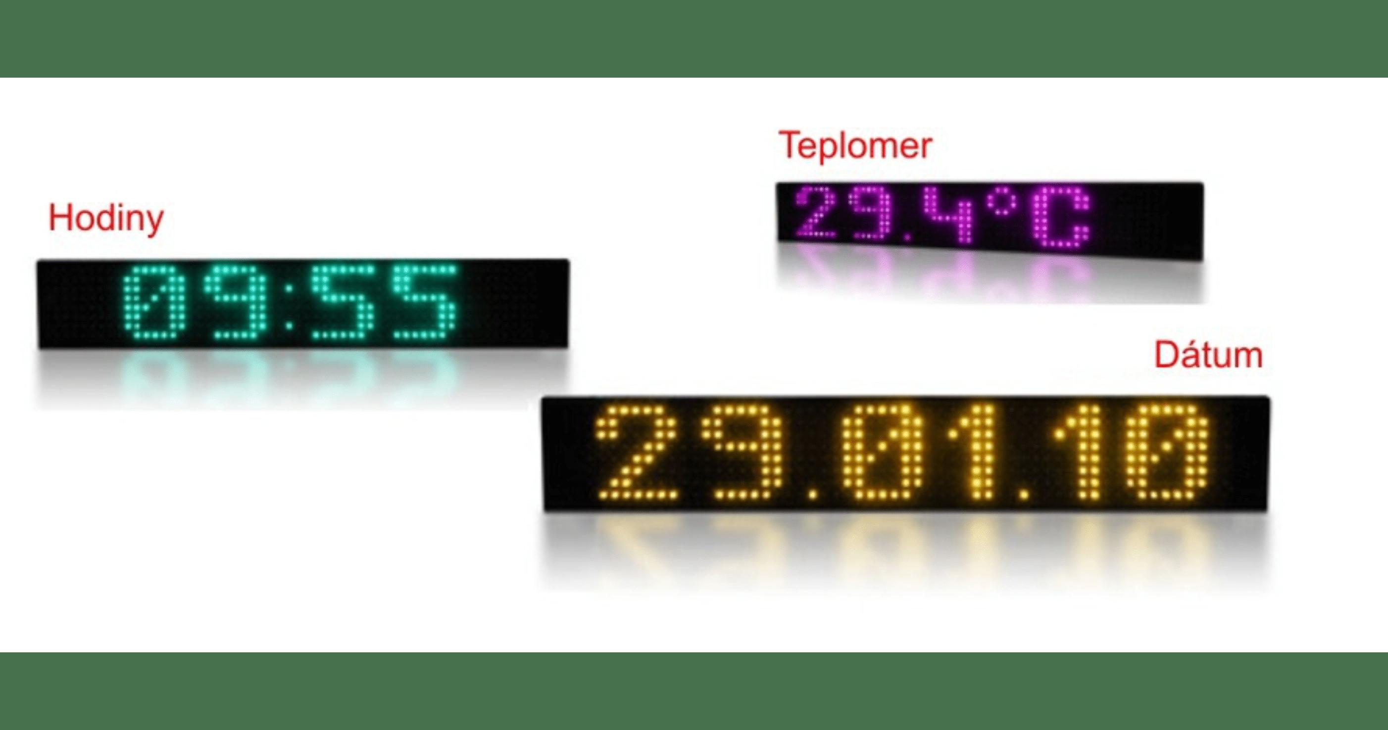 Čas | dátum | teplota